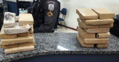 Jovens que traziam drogas do Paraná para Barra do Piraí são presos (crédito PM)