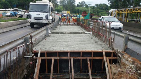 Obras: A previsão é que a faixa da esquerda permaneça interditada durante 45 dias - Divulgação CCR NovaDutra