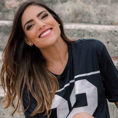A apresentadora e repórter da TV Brasil, Daniela Christoffer (aniversariante do dia)