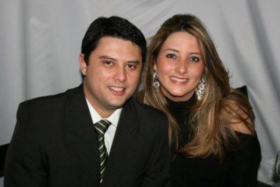 Fabiano Garcez  e sua amada, Marcella Vidigal (aniversariante do dia)