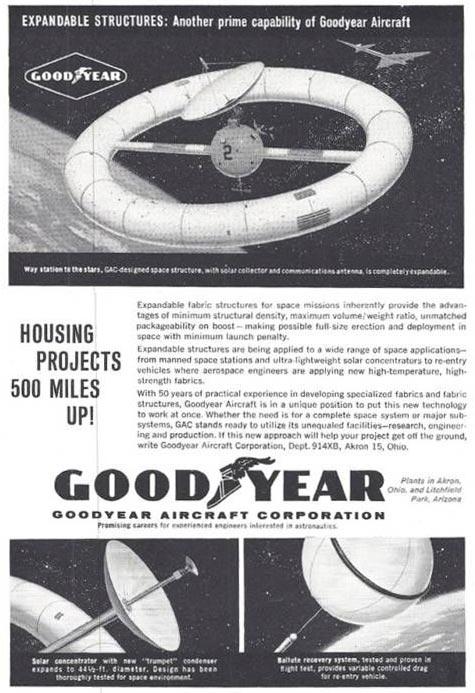 Fantástica: A roda espacial e o balute inflável no anúncio de 1960