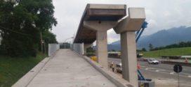 CCR NovaDutra realiza lançamento de viga para construção de passarela em Itatiaia