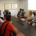 Reunião: Representantes de bombeiros e PMs conversam com o deputado Luiz Paulo