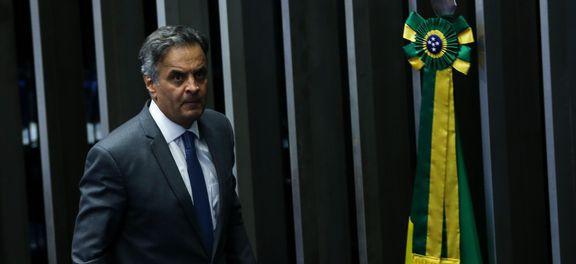 Senador Aécio Neves reassume mandato, após ter sido afastado por determinação da Primeira Turma do STF. (crédito AB)