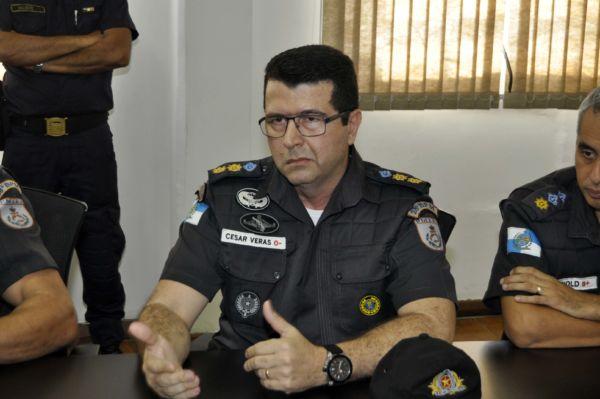Comandante do 28 BPM, tenente-coronel César Veras, disse que vai continuar monitorando as localidades onde ocorrem os conflitos a fim de evitar novos confrontos (foto: Paulo Dimas)
