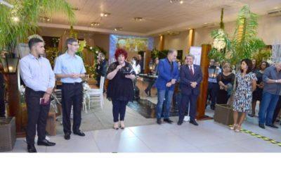 A promoter Elisa Fonseca, na abertura do Festas e Negócios 2018 entre participantes e convidados