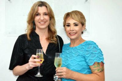 Um brinde ao sucesso da ART CLINIC com Hilmara Machado e Dra Alessandra Serpa Vertematte
