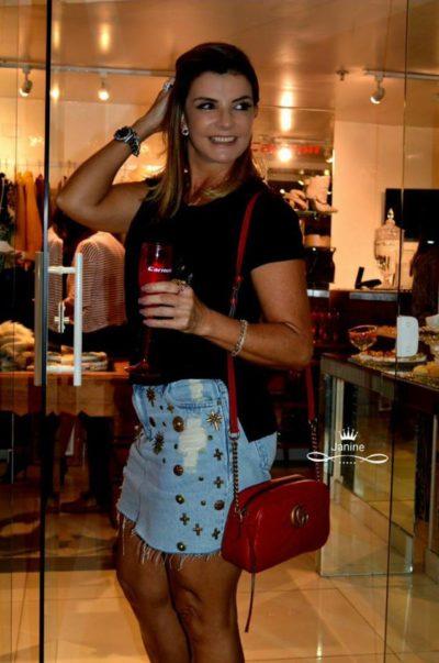 A empresária Margarida Pecoraro, no lounge da Deju (Foto: Janine Garcez)