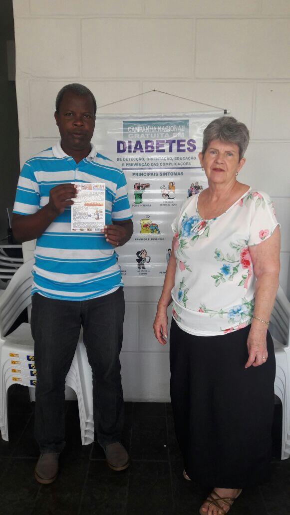 Membros da Associação de Diabetes realizam evento para falar sobre a doença. (crédito Divulgação)