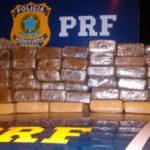 Rapaz transportava drogas em ônibus que foi interceptado pela PRF. (crédito PRF)