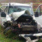 Duas pessoas ficaram feridas em acidente na Dutra nesta manhã. (crédito PRF)