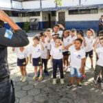 Estudantes foram conhecer a rotina de um policial militar