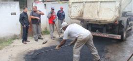 Ednardo acompanha operação 'tapa-buraco'
