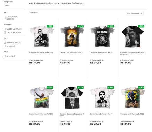 Rede de lojas retira do catálogo camisetas pró-Bolsonaro - Diário do ... bb449ece28885