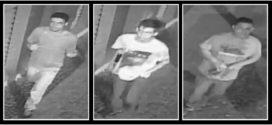 Câmeras registram imagens de trio que invadiu banco