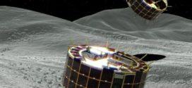 Robôs japoneses dão saltos sobre asteroide