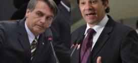 Em votos válidos, Ibope mostra Bolsonaro com 59% contra 41% de Haddad