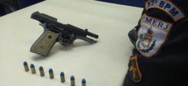 Jovem é preso com pistola em Quatis