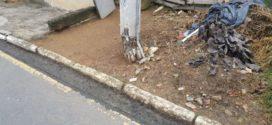 Moradores solicitam troca de poste no Cajueiro