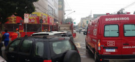 Cozinha de lanchonete pega fogo em Volta Redonda