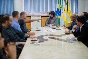 Samuca recebe deputado Jorge Braz