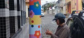Postes em Quatis se tornam mais um espaço para arte