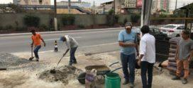 Samuca Silva acompanha manutenção na Amaral Peixoto