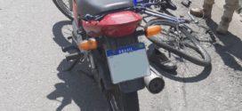 Ciclista e Motociclista se acidentam em Volta Redonda