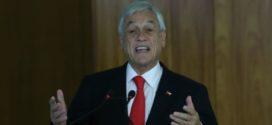 Presidente do Chile pede desculpas e anuncia pacote de medidas sociais