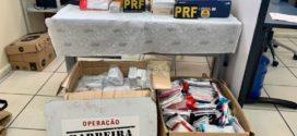 PRF apreende mercadorias sem nota fiscal na Dutra em Itatiaia