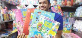 Jornaleiro sósia do YouTuber Luccas Neto diverte a criançada em Barra Mansa