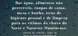 Sul Fluminense se mobiliza para ajudar vítimas da chuva no estado