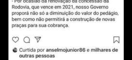 Bolsonaro descarta pedágio em Barra Mansa