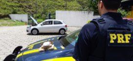 PRF prende suspeitos transportando cocaína em carro clone na Via Dutra