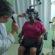 Idosos passam por exames para receberem óculos gratuitamente