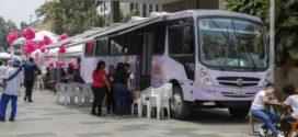 Ônibus Lilás leva atendimento às mulheres em Quatis