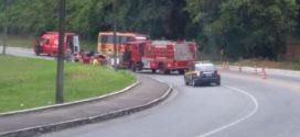 Acidente na BR-101 deixa quatro feridos em Angra dos Reis