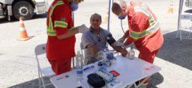 Caminhoneiros recebem orientações sobre coronavírus na BR-393
