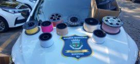 Guarda Municipal e Polícia Civil apreendem 40 rolos de linha chilena em Resende