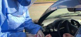 Último dia de testagem em motoristas de aplicativo, um testa positivo para Covid-19, em Barra Mansa