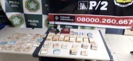 Polícia Civil apreende mais de R$ 37 mil do tráfico no Belmonte, em Volta Redonda