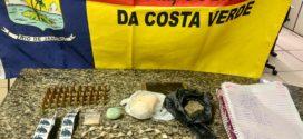 PM apreende munições e pasta base de cocaína em Paraty