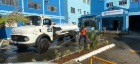Aterrado e unidades de saúde recebem sanitização
