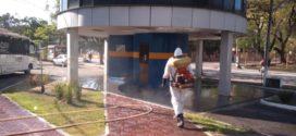 Vila Santa Cecília e Retiro recebem sanitização em Volta Redonda