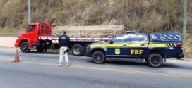 PRF flagra caminhão com chassi adulterado na BR-393, em Paraíba do Sul