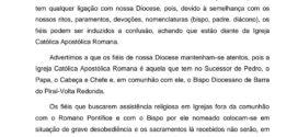 Diocese católica emite nota sobre templo dedicado a Cosme e Damião