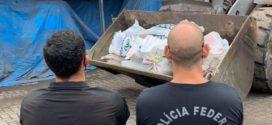PF incinera 800 quilos de droga na usina da CSN
