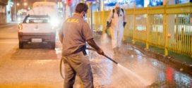 Avenida Getúlio Vargas passa por sanitização no combate à Covid-19