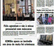 Capa do DIÁRIO DO VALE é adulterada por grupo para veicular notícia falsa