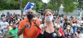 Ailton Marques e Bianca Sampaio fazem campanha no bairro Freitas Soares